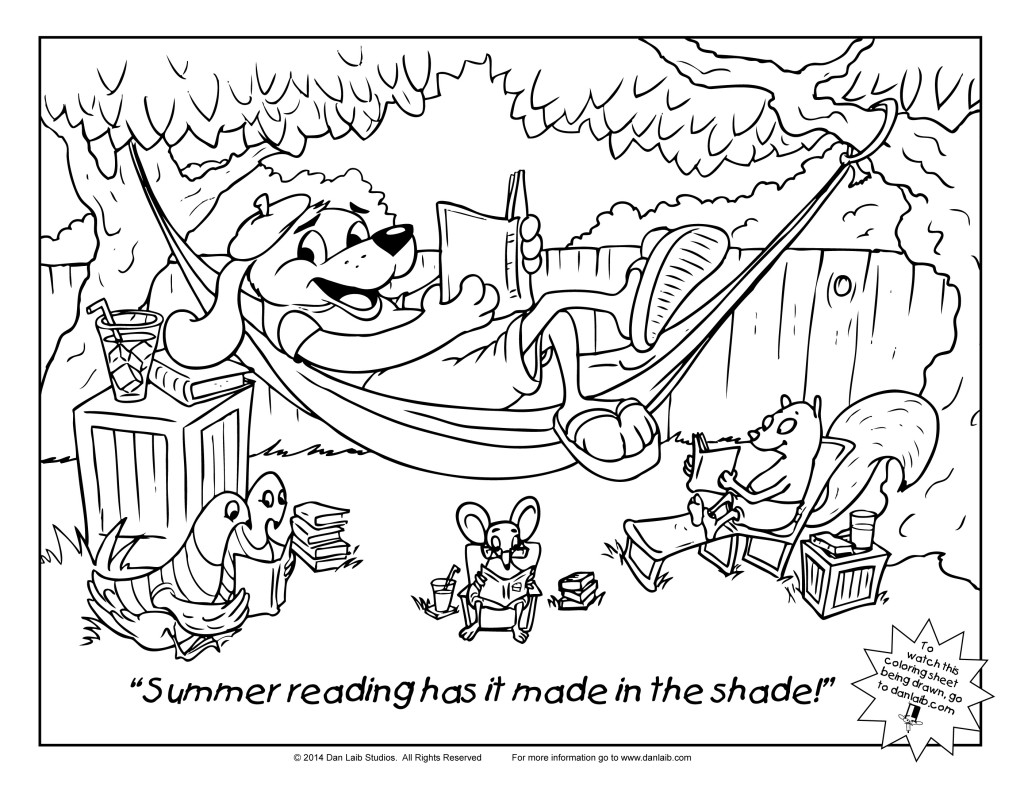 Dan laib illustration for Reading coloring page